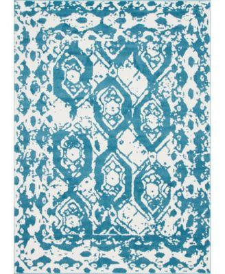 Mishti Mis5 Blue 4' x 6' Area Rug