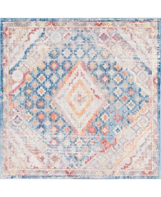 Zilla Zil1 Blue 8' x 8' Square Area Rug