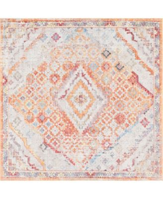 Zilla Zil1 Orange 8' x 8' Square Area Rug