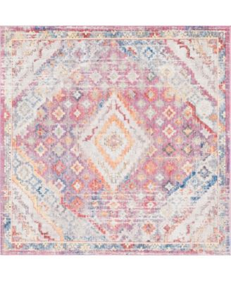 Zilla Zil1 Pink 8' x 8' Square Area Rug