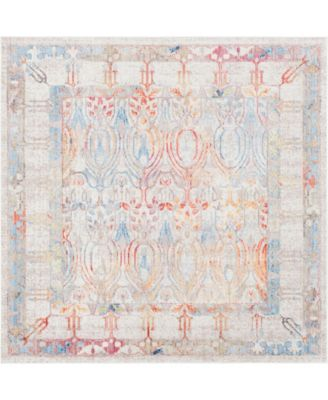 Zilla Zil2 Ivory 8' x 8' Square Area Rug