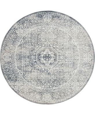 Zilla Zil3 Gray 6' x 6' Round Area Rug