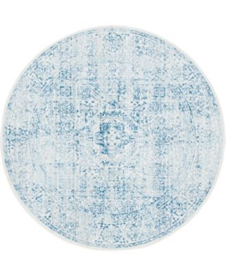 Zilla Zil3 Light Blue 6' x 6' Round Area Rug