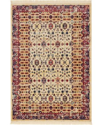 Borough Bor2 Beige 6' x 9' Area Rug
