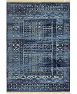 Borough Bor4 Blue 7' x 10' Area Rug