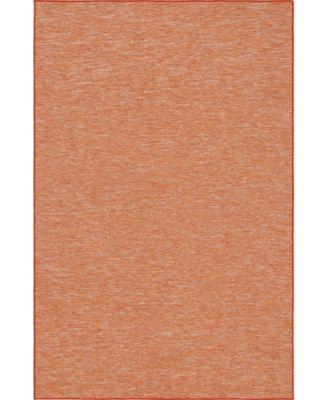 """Pashio Pas8 Terracotta 5' 3"""" x 8' Area Rug"""