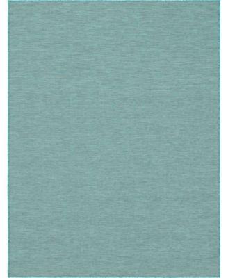 """Pashio Pas8 Turquoise 9' 4"""" x 12' Area Rug"""