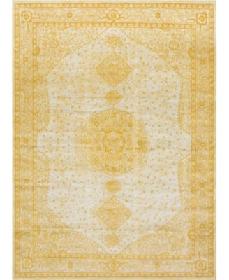 Mobley Mob1 Yellow 9' x 12' Area Rug