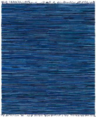 Jari Striped Jar1 Navy Blue 8' x 10' Area Rug