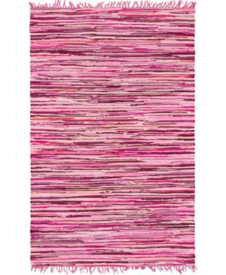 Jari Striped Jar1 Pink 5' x 8' Area Rug