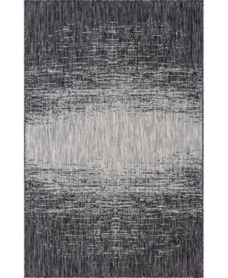 Pashio Pas7 Charcoal Gray 5' x 8' Area Rug