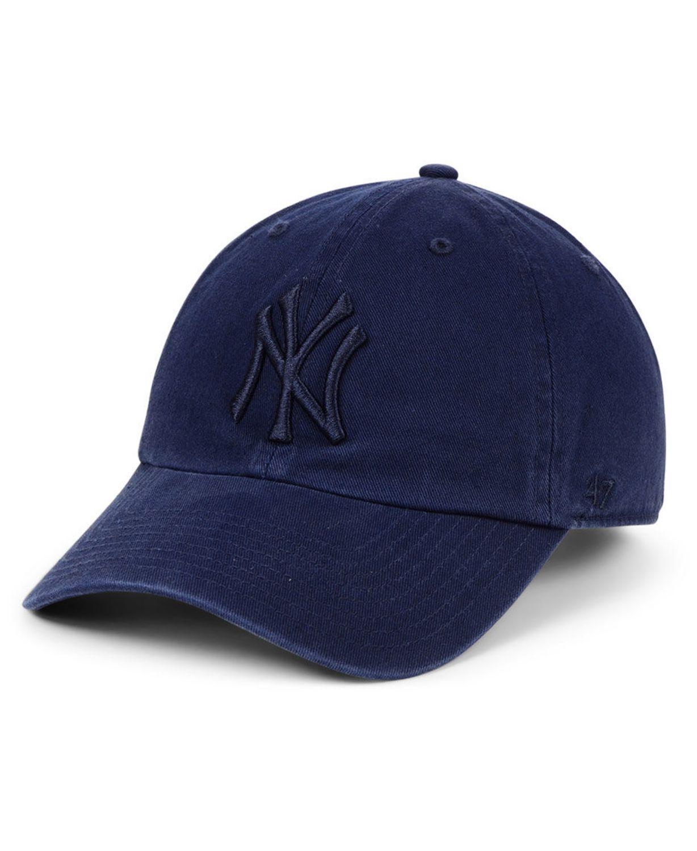 '47 Brand New York Yankees Tonal CLEAN UP Strapback Cap & Reviews - Sports Fan Shop By Lids - Men - Macy's