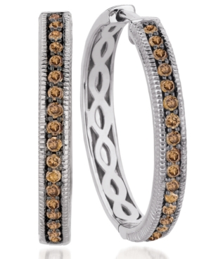Le Vian 14k White Gold Chocolate Diamond Hoop Earrings (5/8 ct. t.w.)
