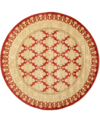 Orwyn Orw5 Red 8' x 8' Round Area Rug