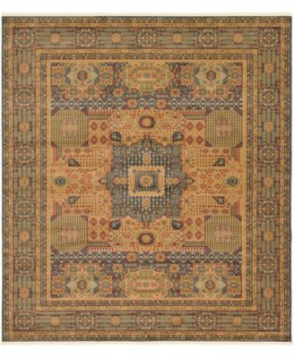 "Wilder Wld1 Navy Blue 10' x 11' 4"" Square Area Rug"