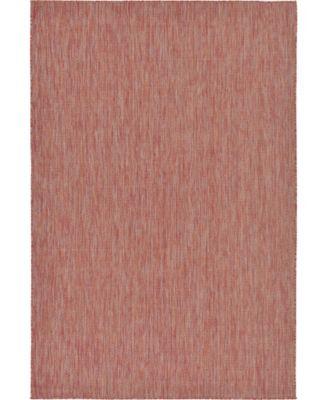 Pashio Pas6 Rust Red 6' x 9' Area Rug