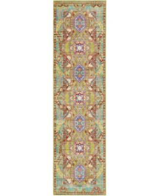 "Malin Mal5 Light Green 2' 7"" x 9' 10"" Runner Area Rug"
