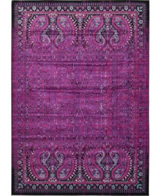 "Linport Lin6 Lilac 8' x 11' 6"" Area Rug"