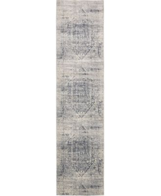 Odette Ode1 Gray 3' x 13' Runner Area Rug