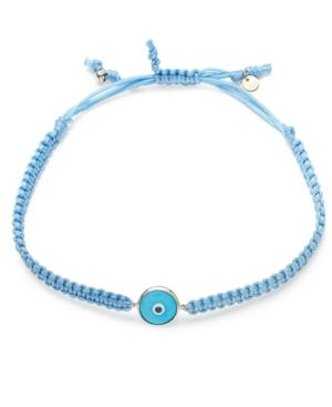 Macy's - 10k Gold Bracelet, Blue Rope Evil Eye Bracelet