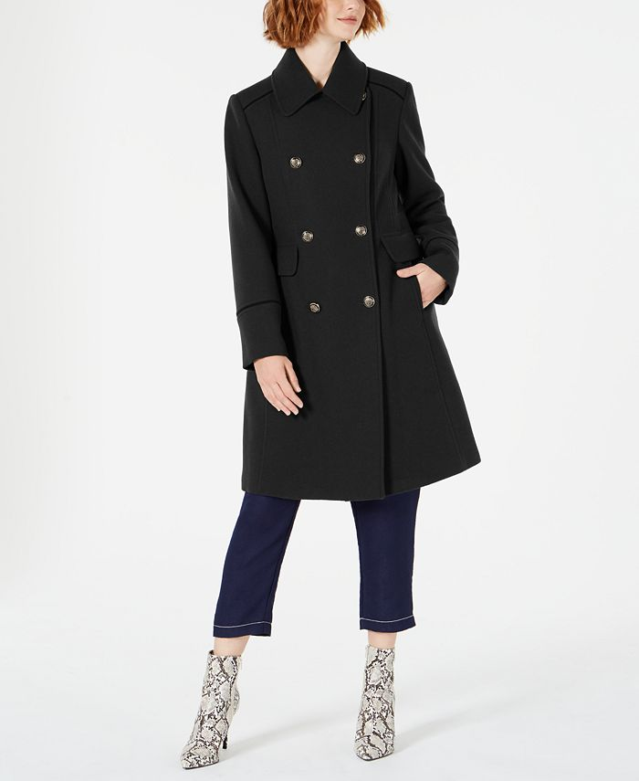 Vince Camuto - Wing-Collar Double-Breasted Coat