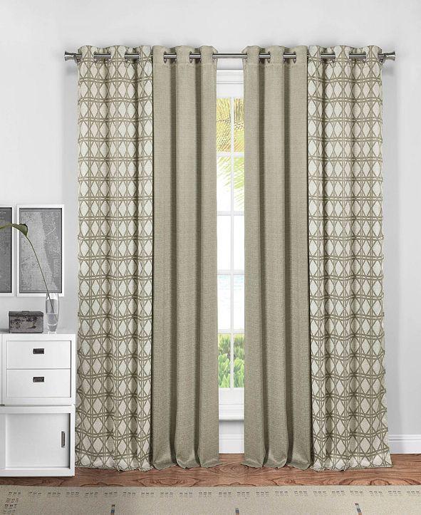 "Duck River Textile Kaelee 37"" x 84"" 4-Piece Curtain Set"