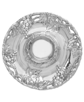 Arthur Court Grape Chip & Dip Plate, 14""