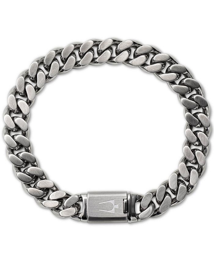 Bulova - Men's Chain Bracelet in Stainless Steel