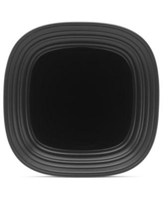 Mikasa Dinnerware, Swirl Square Black Dinner Plate