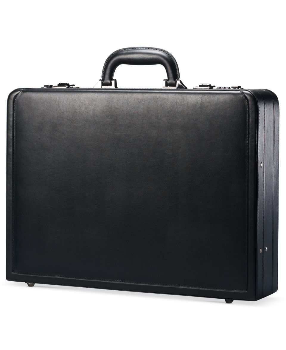 Kenneth Cole Reaction Manhattan Leather Attache   Business & Laptop Bags   luggage