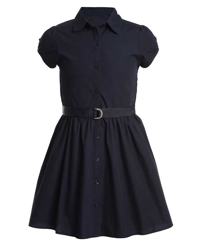 Nautica - Big Girls Cotton Poplin Shirtdress