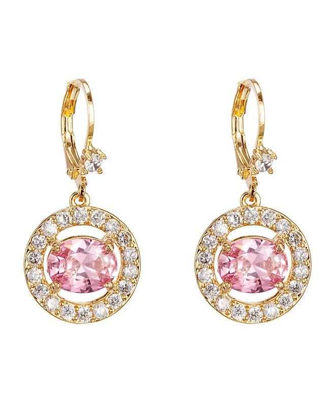 Nina Pave' Link Drop Earrings