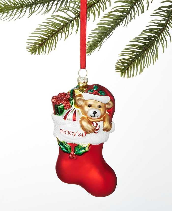 Holiday Lane - Macy's Stocking with Gifts Ornament
