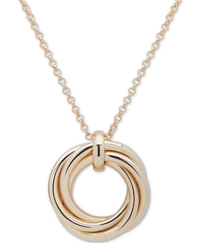 "Lauren Ralph Lauren - Gold-Tone Love Knot 36"" Pendant Necklace"