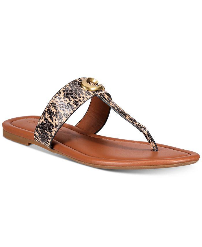 COACH - Jessie Buckle Thong Sandals
