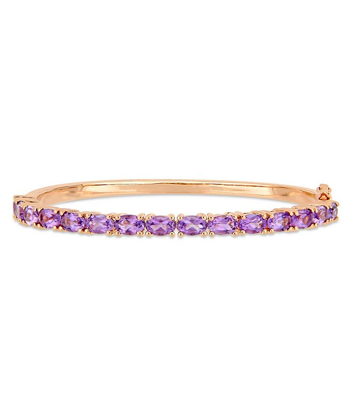 Macy's - Amethyst (6 ct. t.w.) Bangle in 18k Rose Gold over Sterling Silver