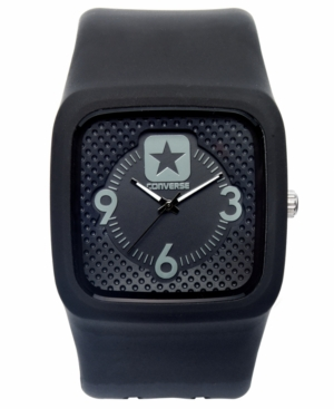 Converse Watch Unisex Clocked Black Silicone Strap 40mm VR030005