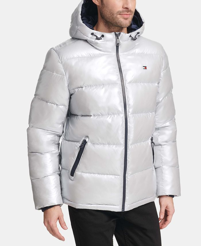 Tommy Hilfiger - Men's Pearlized Performance Hooded Puffer Coat