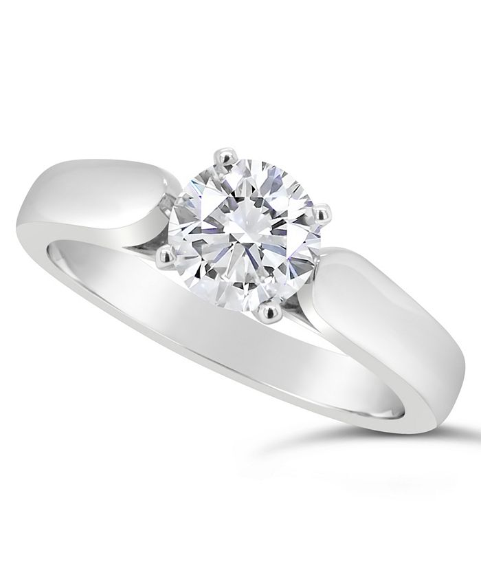 Macy's - Certified Round Diamond Solitaire Engagement Ring (1 ct. t.w.) in 14k White Gold, Rose Gold, or Yellow Gold