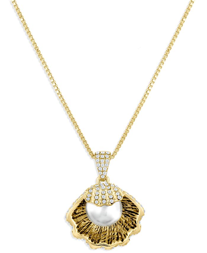 ZAXIE by Stefanie Taylor - ZAXIE Pave Shell Pendant Necklace