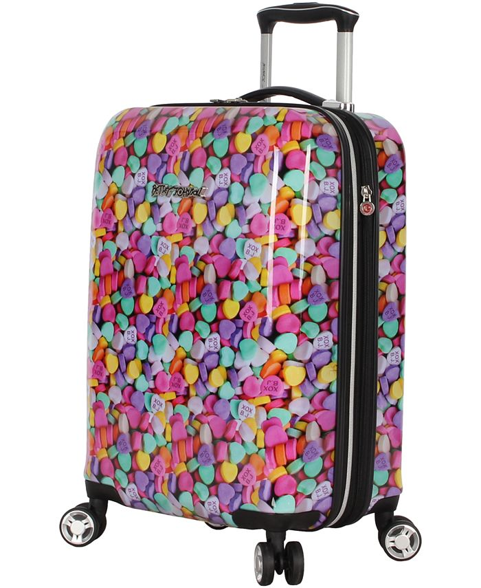 "Betsey Johnson - Hummingbird 20"" Hardside Expandable Carry-On Spinner Suitcase"