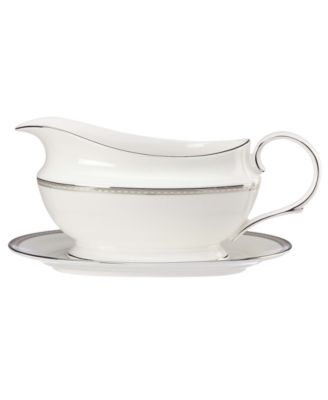Lenox Murray Hill Gravy Boat and Stand