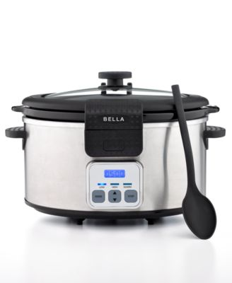 Bella 13722 6-Qt. Portable Stainless Steel Programmable Slow Cooker