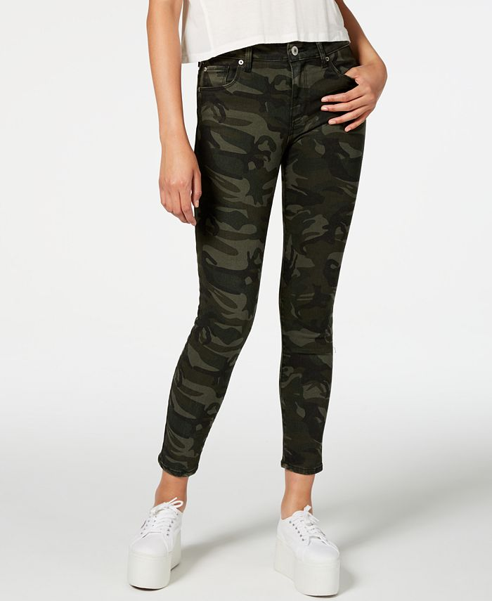 STS Blue - Ellie Camouflage-Print Ankle Skinny Jeans