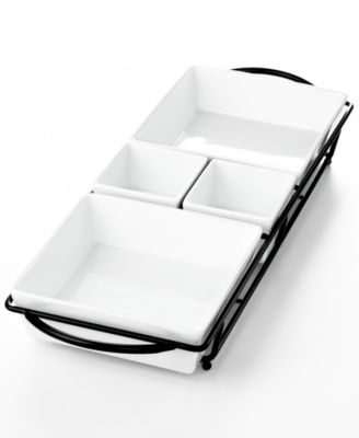 The Cellar Whiteware 5 Piece Rectangular Server