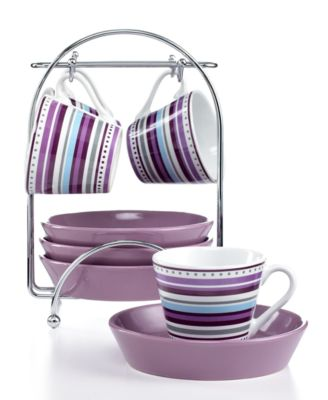 Imusa 8 Piece Espresso Set with Rack