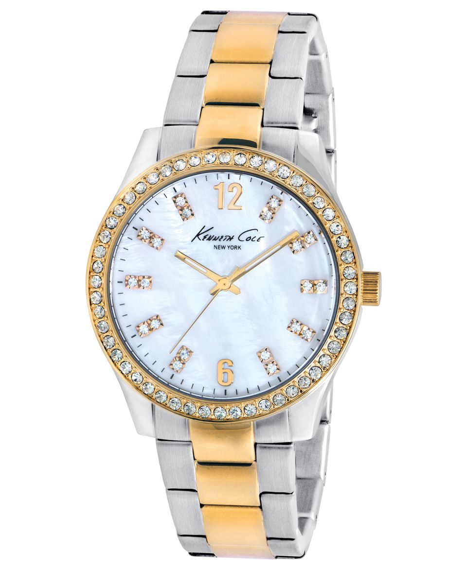 Kenneth Cole New York Watch, Womens Two Tone Stainless Steel Bracelet 39mm KC4896   Watches   Jewelry & Watches