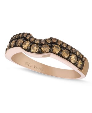 Le Vian Champagne Diamond Wedding Band (5/8 ct. t.w.) in 14k Rose Gold