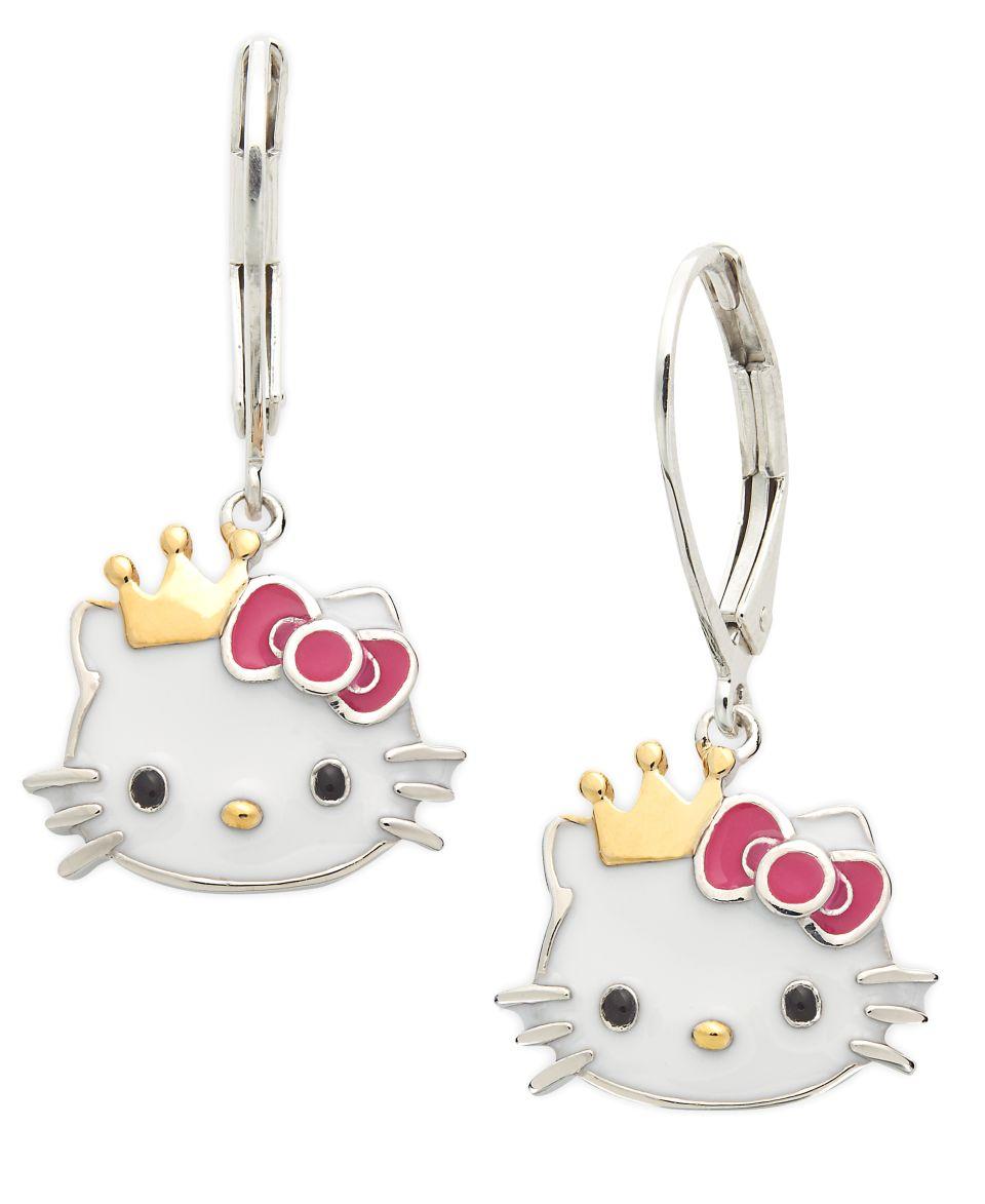Hello Kitty Sterling Silver Necklace, Enamel Hello Kitty Face Necklace   Necklaces   Jewelry & Watches