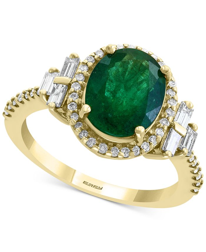 EFFY Collection - Emerald (2-1/8 ct. t.w.) & Diamond (1/2 ct. t.w.) Statement Ring in 14k Gold
